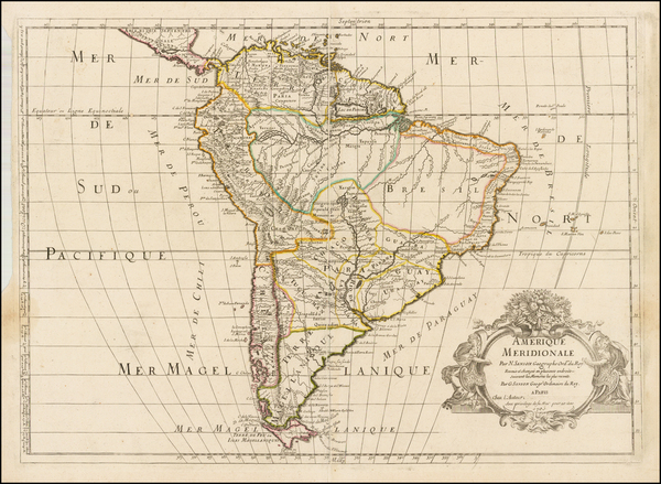 35-South America Map By Guillaume Sanson
