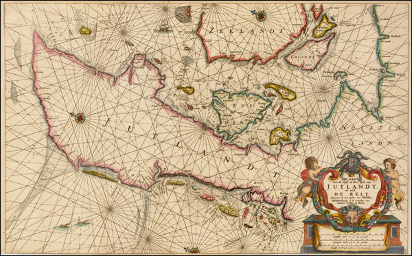 93-Germany, Scandinavia and Denmark Map By Anthonie (Theunis)   Jacobsz