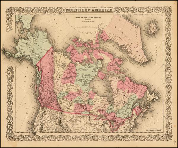 79-Alaska and Canada Map By Joseph Hutchins Colton