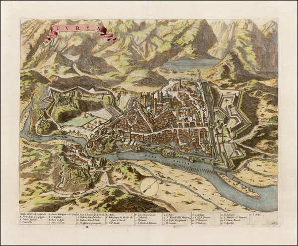 98-Italy, Northern Italy and Other Italian Cities Map By Johannes et Cornelis Blaeu