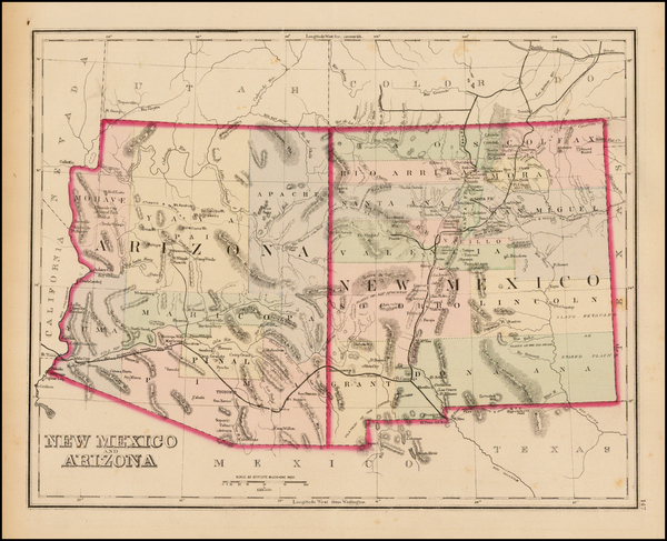 61-Southwest, Arizona and New Mexico Map By O.W. Gray