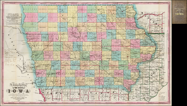 58-Iowa Map By Henn, Williams & Co.