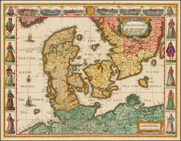 68-Scandinavia and Denmark Map By John Speed
