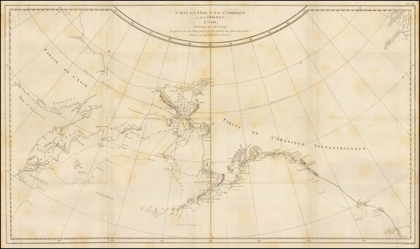 Alaska, Pacific and Russia in Asia Map By Jacques-Francois Benard