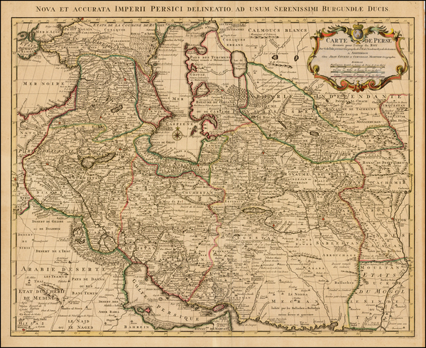 58-Central Asia & Caucasus, Middle East and Persia Map By Johannes Covens  &  Pieter Morti