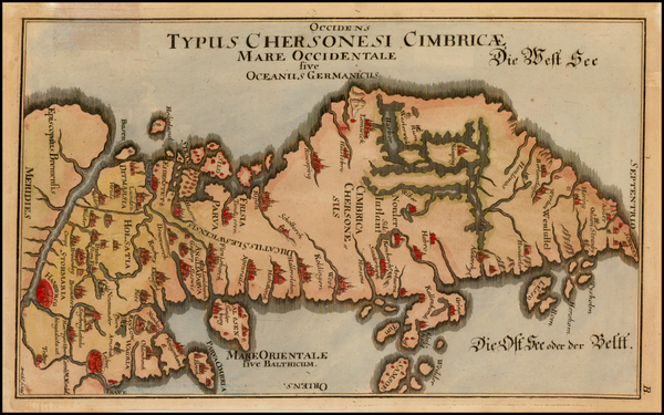 62-Germany, Scandinavia and Denmark Map By Johann Benjamin Bruehl