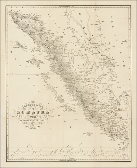 Southeast Asia and Indonesia Map By Pieter Baron Melvill van Carnbee
