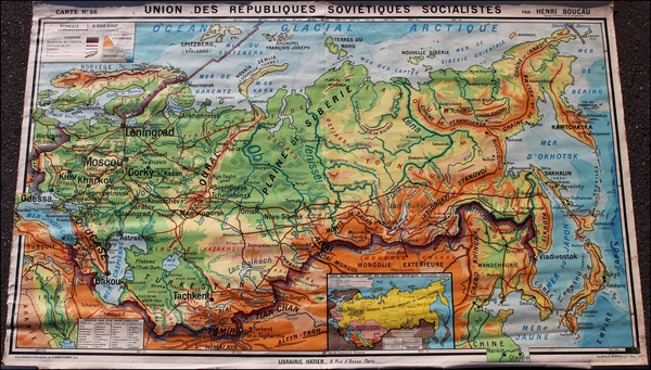 25-Russia, Ukraine and Russia in Asia Map By Pierre Deffontaines