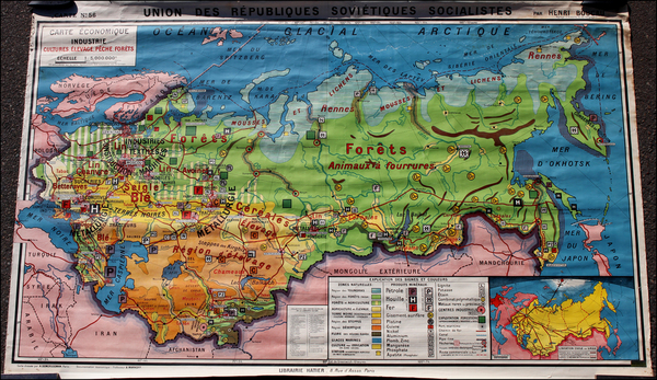 9-Russia, Ukraine and Russia in Asia Map By Pierre Deffontaines