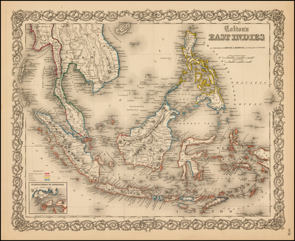 94-Southeast Asia, Philippines and Other Pacific Islands Map By Joseph Hutchins Colton