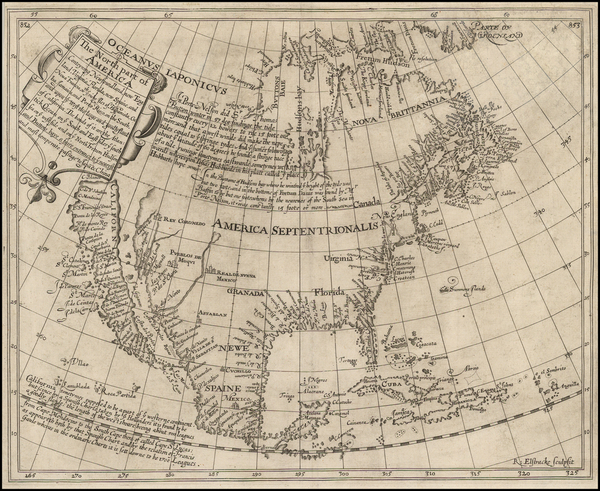 70-United States, Southeast, North America and California Map By Henry Briggs