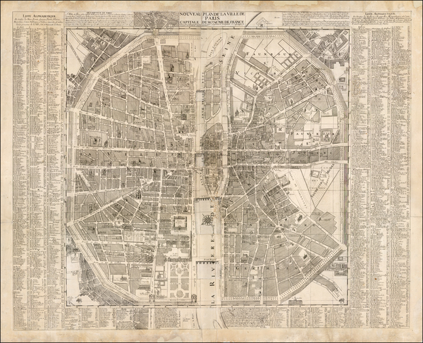 Paris Map By G. Monbard