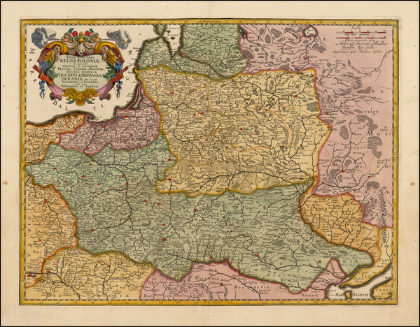21-Poland, Russia, Ukraine and Baltic Countries Map By Nicolaes Visscher I