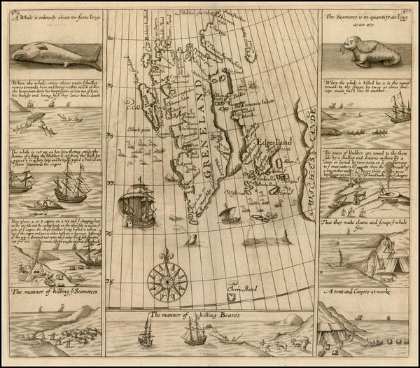 31-Northern Hemisphere, Polar Maps, Russia and Scandinavia Map By Samuel Purchas