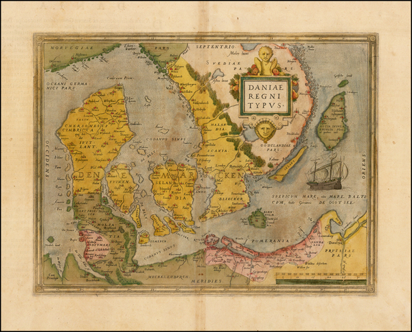 34-Scandinavia and Denmark Map By Abraham Ortelius