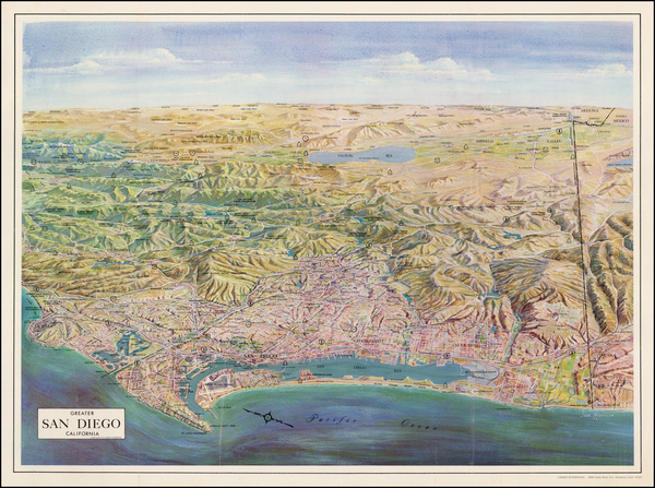 47-California Map By Jack H. Moffett