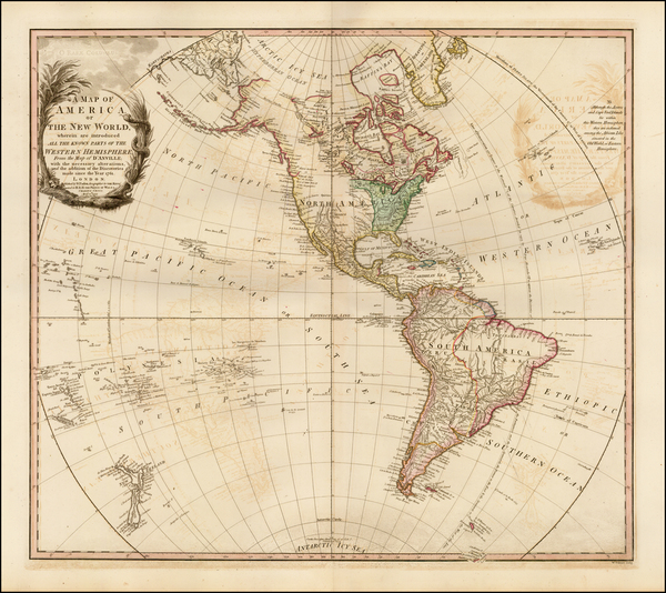 73-South America and America Map By William Faden