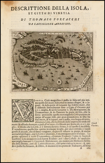 76-Italy and Balearic Islands Map By Tomasso Porcacchi