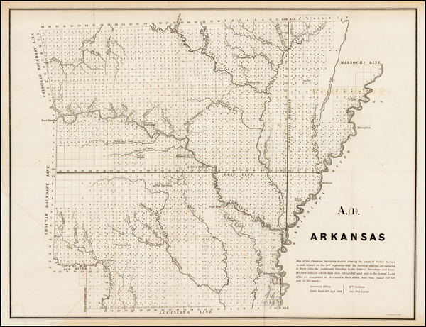South and Arkansas Map By U.S. General Land Office
