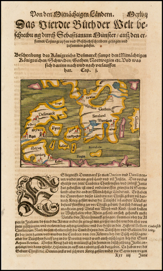 33-Scandinavia Map By Sebastian Munster