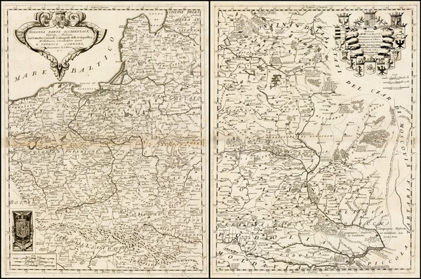 93-Poland and Ukraine Map By Vincenzo Maria Coronelli