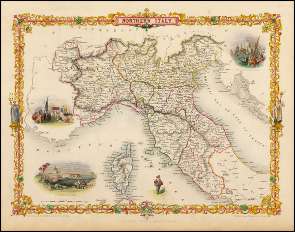 77-Italy and Balearic Islands Map By John Tallis