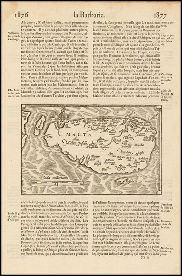 2-Malta Map By Francois De Belleforest