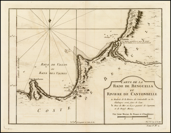 2-West Africa Map By Jacques Nicolas Bellin