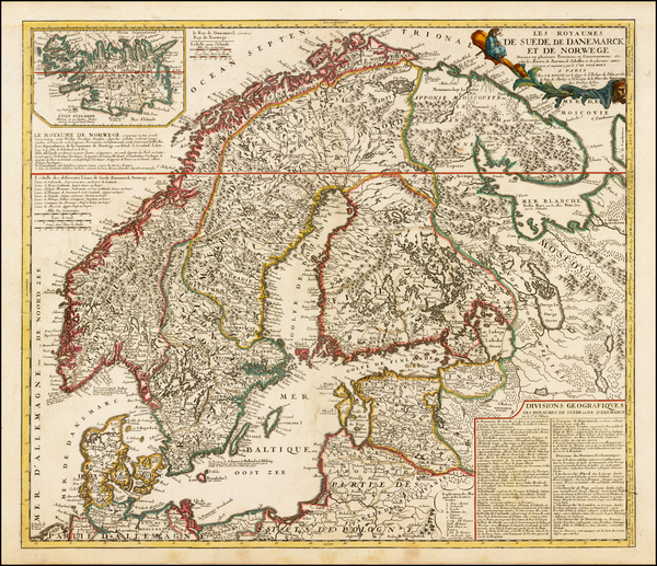49-Scandinavia Map By Vincenzo Maria Coronelli / Jean-Baptiste Nolin