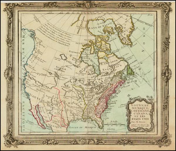 1-United States, Southwest, Alaska and Canada Map By Louis Brion de la Tour
