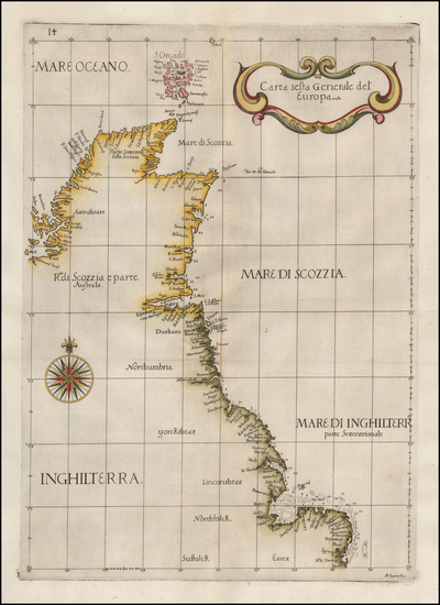 32-England and Scotland Map By Robert Dudley