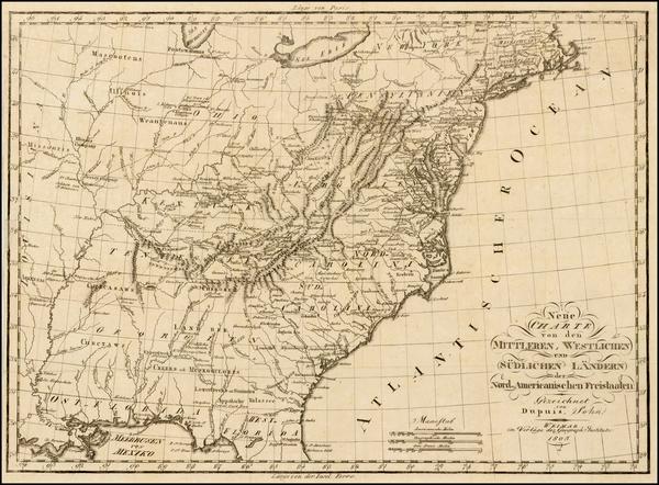 48-United States Map By Weimar Geographische Institut