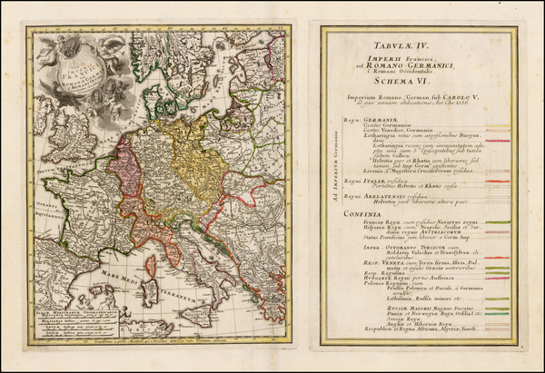 75-Europe, Europe, Germany and Austria Map By Homann Heirs