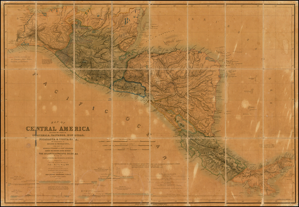 43-Central America Map By John Baily
