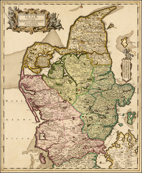 50-Denmark Map By Frederick De Wit