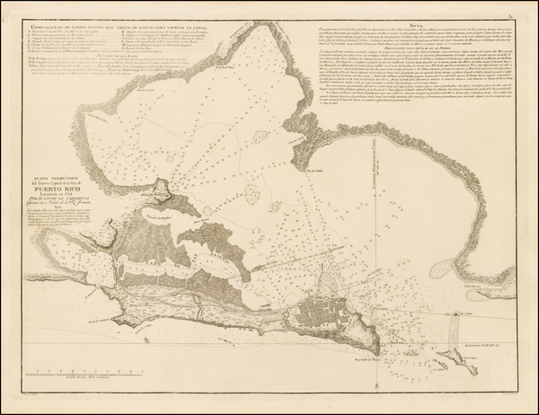 54-Caribbean and Puerto Rico Map By Cosme Damian de Churruca y Elorza