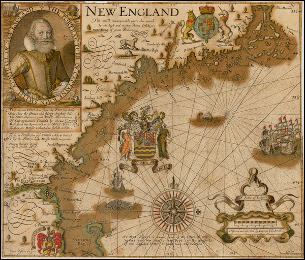 91-New England Map By John Smith