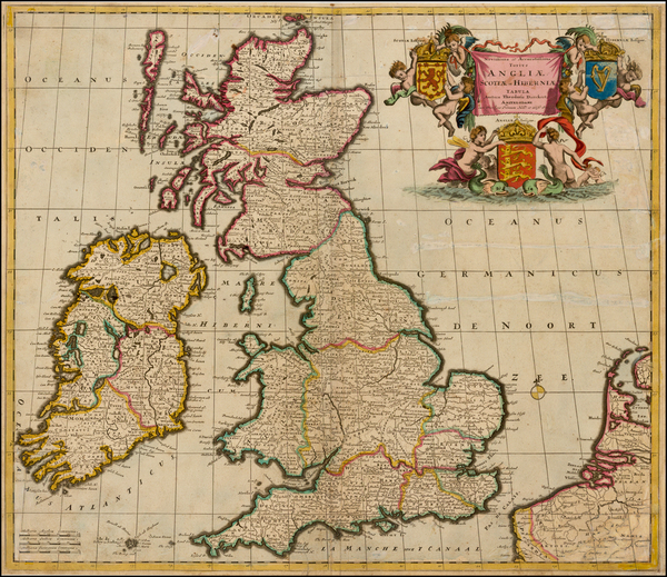 81-British Isles Map By Theodorus I Danckerts