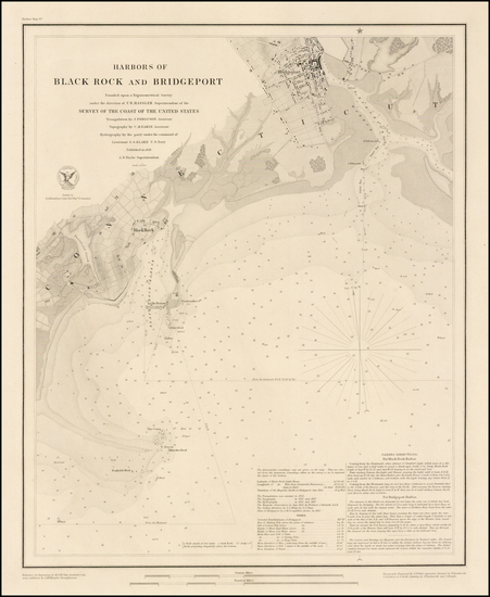 17-Connecticut Map By United States Coast Survey