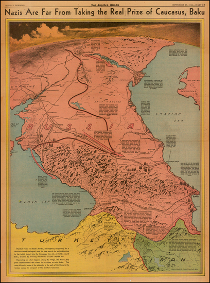 55-Russia, Ukraine and Central Asia & Caucasus Map By Charles H. Owens / Los Angeles Times