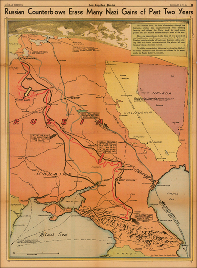 46-Russia and Ukraine Map By Charles H. Owens / Los Angeles Times
