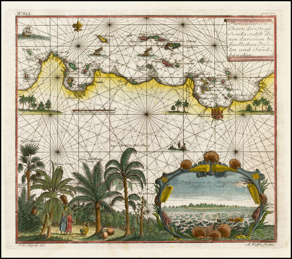 84-Southeast Asia, Indonesia and Other Islands Map By Johann Wolfgang Heydt