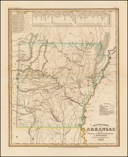 2-Arkansas Map By Joseph Meyer  &  Carl Radefeld