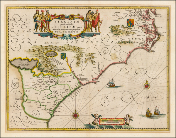 76-Southeast Map By Willem Janszoon Blaeu