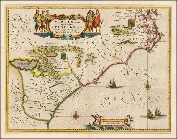 55-Southeast Map By Willem Janszoon Blaeu
