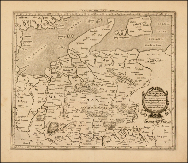 79-Netherlands, Germany and Denmark Map By  Gerard Mercator