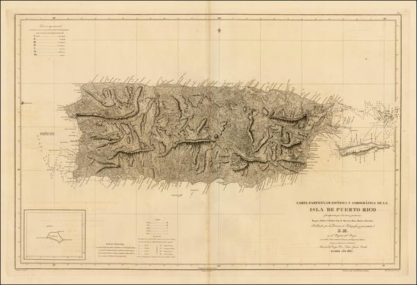 79-Caribbean and Puerto Rico Map By Direccion Hidrografica de Madrid