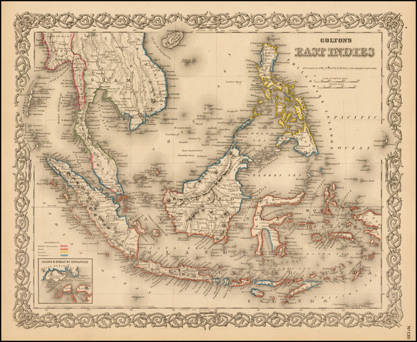 90-Southeast Asia, Philippines and Other Pacific Islands Map By G.W.  & C.B. Colton