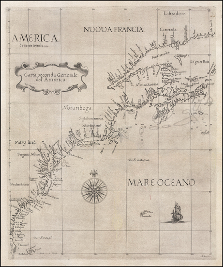 66-United States, New England, Mid-Atlantic, Southeast and Canada Map By Robert Dudley