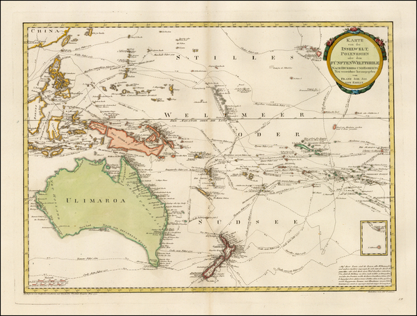 32-Australia & Oceania, Australia, Oceania, New Zealand and Other Pacific Islands Map By Franz